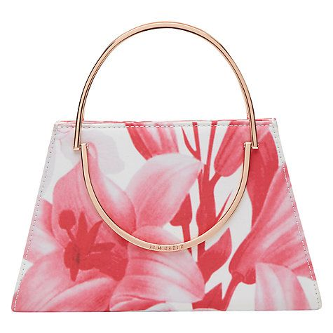 Buy Ted Baker Tonal Encyclopedia Evening Clutch Bag, Pink Online at johnlewis.com