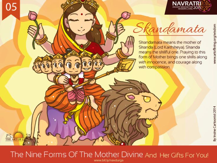 #Navratri #Day 5 : Skandamata #Praying to this form of #Devi #bestows one with #skill #with #innocence and #courage #with #compassion.