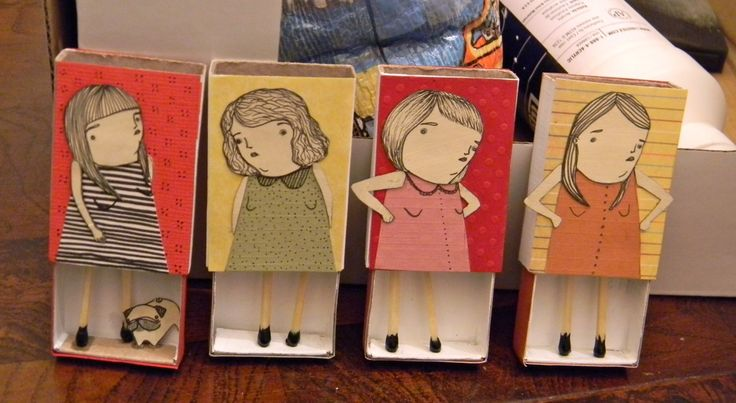 Matchstick men and women by Mai Ly Degnan, on... | books, paper, scissors