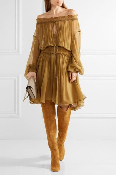 Aquazzura - London Suede Over-the-knee Boots - Camel - IT