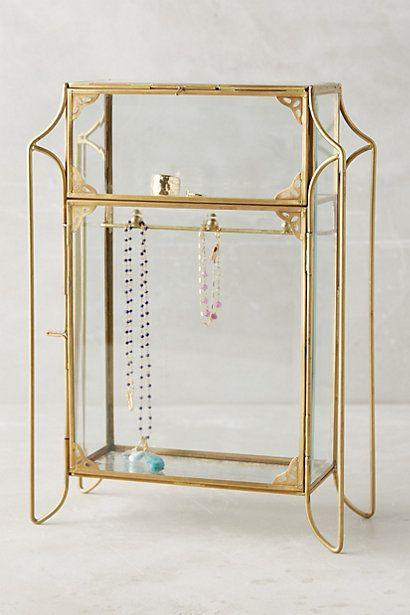Anthropologie EU Porte-bijoux en forme de petite armoire