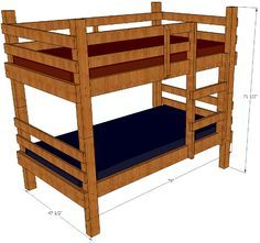 diy bunk bed plans rustic bunk bed plans you can build these bunks - Einfache Hausgemachte Etagenbetten