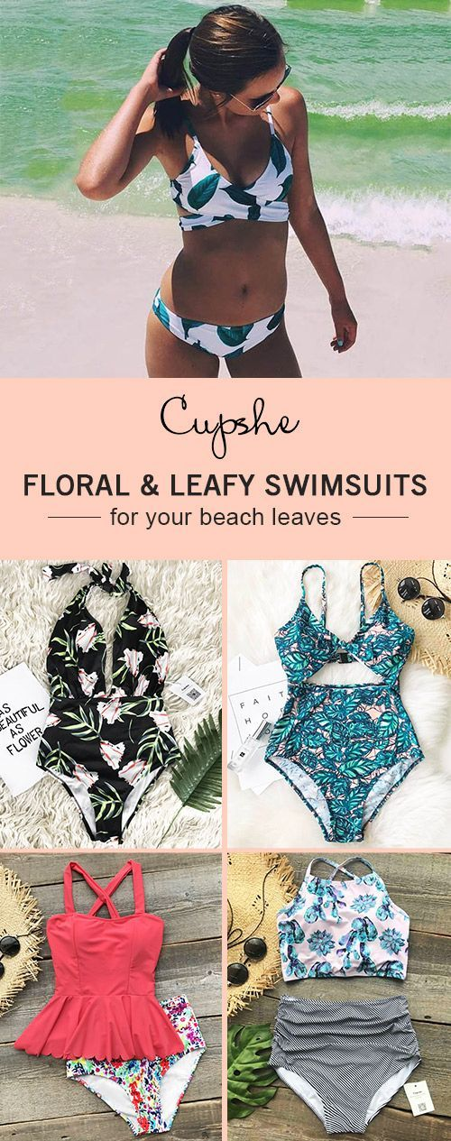 Have some fun in the sun! Give yourself more freedom and feel the tropical air! Take the hot floral and leaf printing swimsuits and dive into cool sea. Be a mermaid in the stylish swimsuits. FREE shipping~