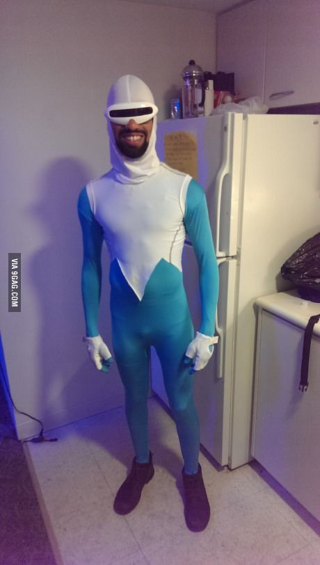 My Frozone costume last night