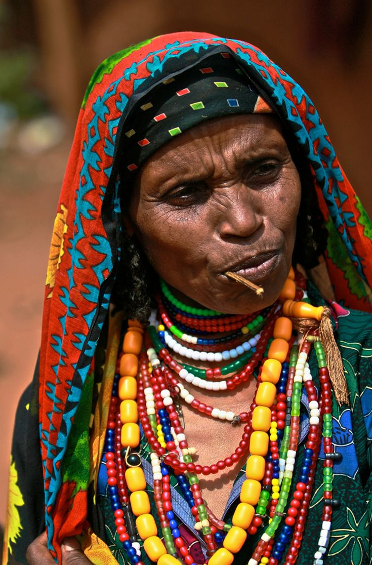 Africa | Colourful Borana woman.  Ethiopia | ©Marti Brown