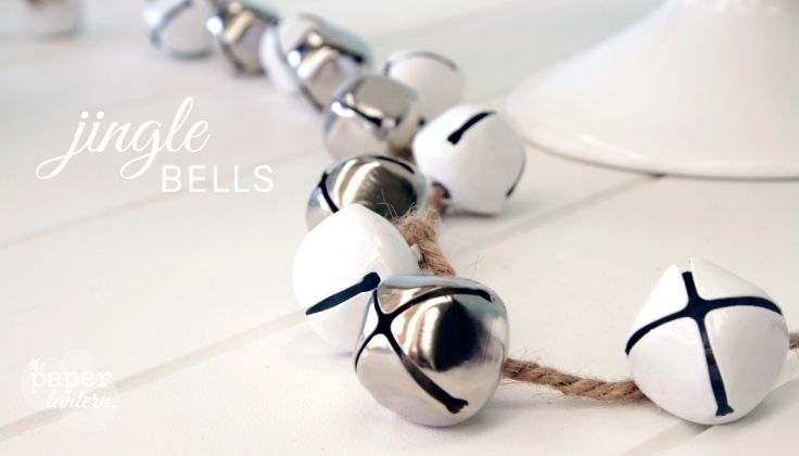 White & Silver Jingle Bell Garlands - available in our online shop along with All White / Red + White combinations. | Aqua Silver White Christmas Decorations | The Paper Lantern