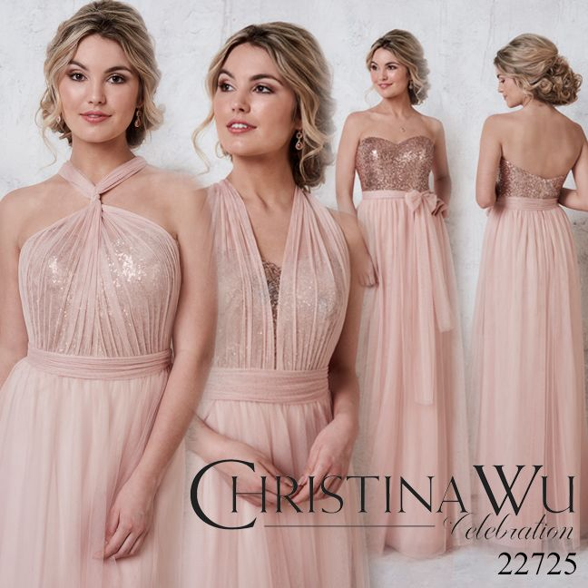 Tulle Multi Way Dress With Sequined Bodice 22725 Is Available In 3 Diffe Bridesmaid 2018 Pinterest Dresses And Wedding
