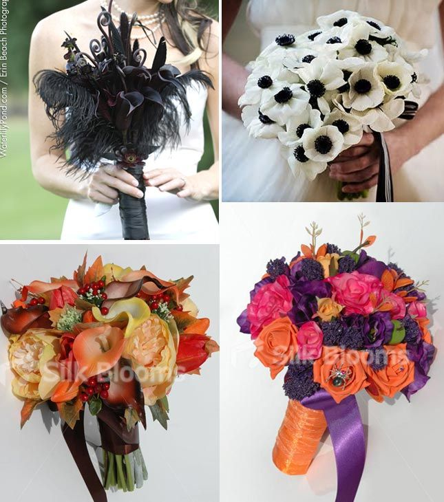 Halloween Wedding Bouquets: 7 Best Halloween Wedding Flowers And Inspiration Images On