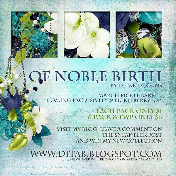 DitaB Designs: Sneak Peek Of Noble Birth