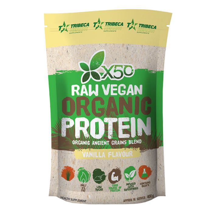 Tribeca Health X50 Raw Vegan Organic Protein - Second To None Nutrition