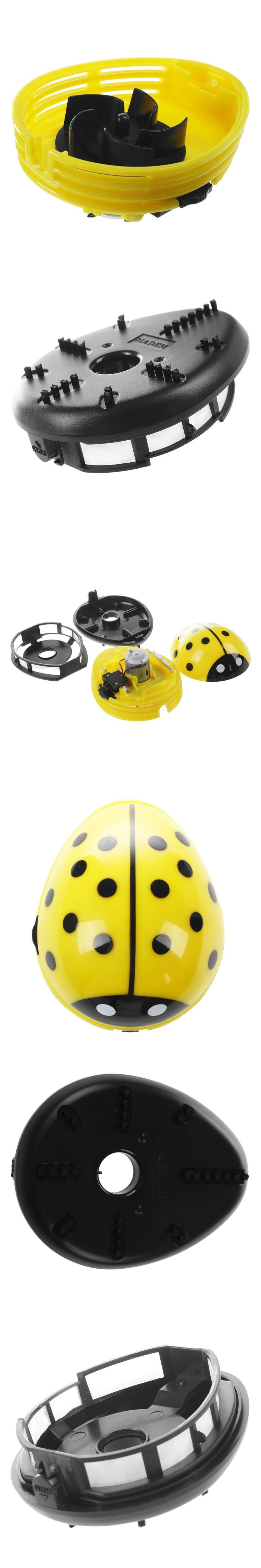 ladybird pattern battery operated table vacuum cleaner mini dust cleaner, yellow
