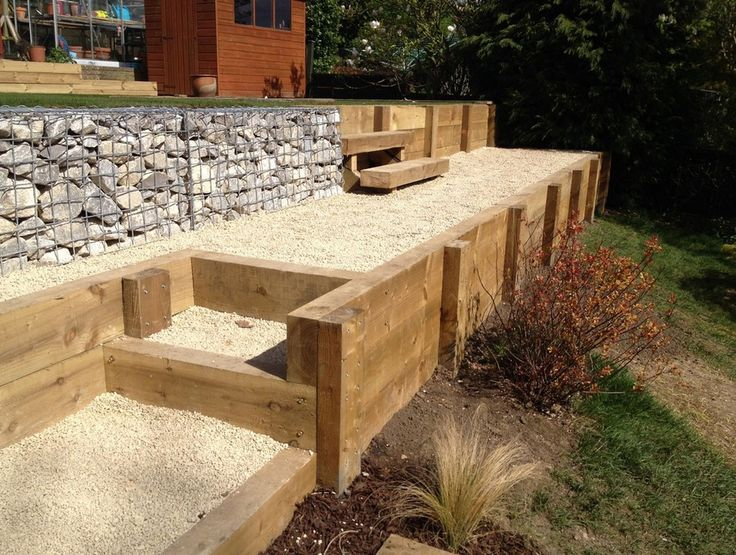 89 Best Images About Retaining Wall On Pinterest: Wooden