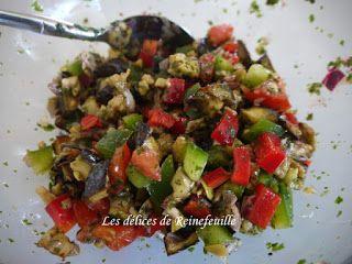 Les délices de Reinefeuille: Salade israélienne à l'aubergine et légumes croqua...