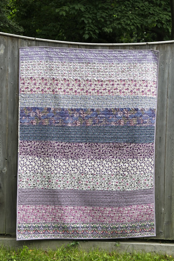 Christine Chitnis: Liberty Quilt. I love her blog and I adore these Liberty prints. Such a pretty quilt!