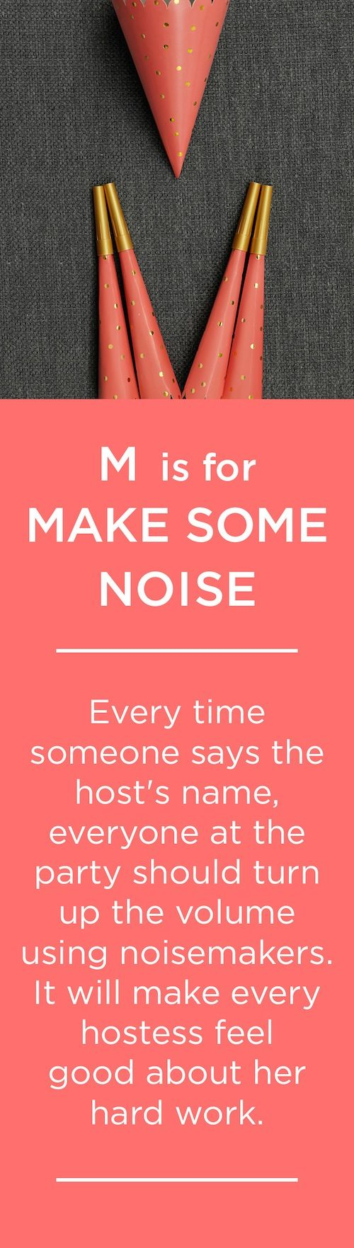 M is for MAKE SOME NOISE
