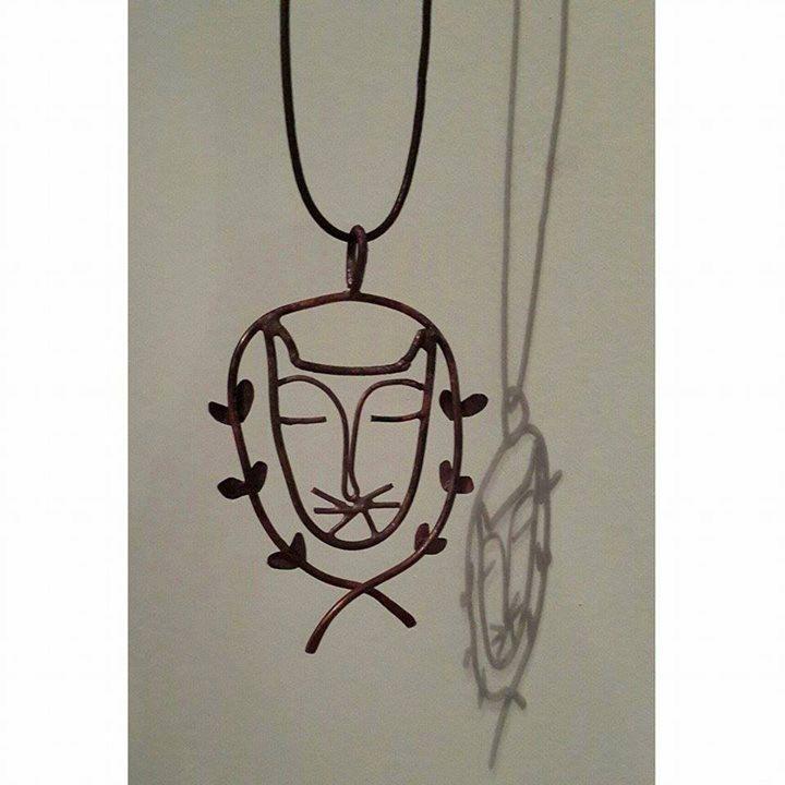 Cat necklace by hilalkosovali on Etsy