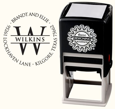 These customized address stamps make a great housewarming gift.