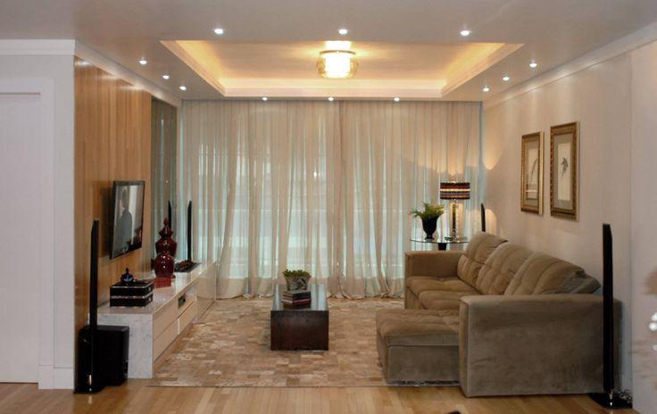 Sala de Estar com Projeto de Iluminação e Gesso!!!  Ideias para a