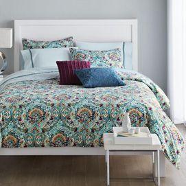 With a colour scheme of rich jewel tones, the Camden comforter set ...