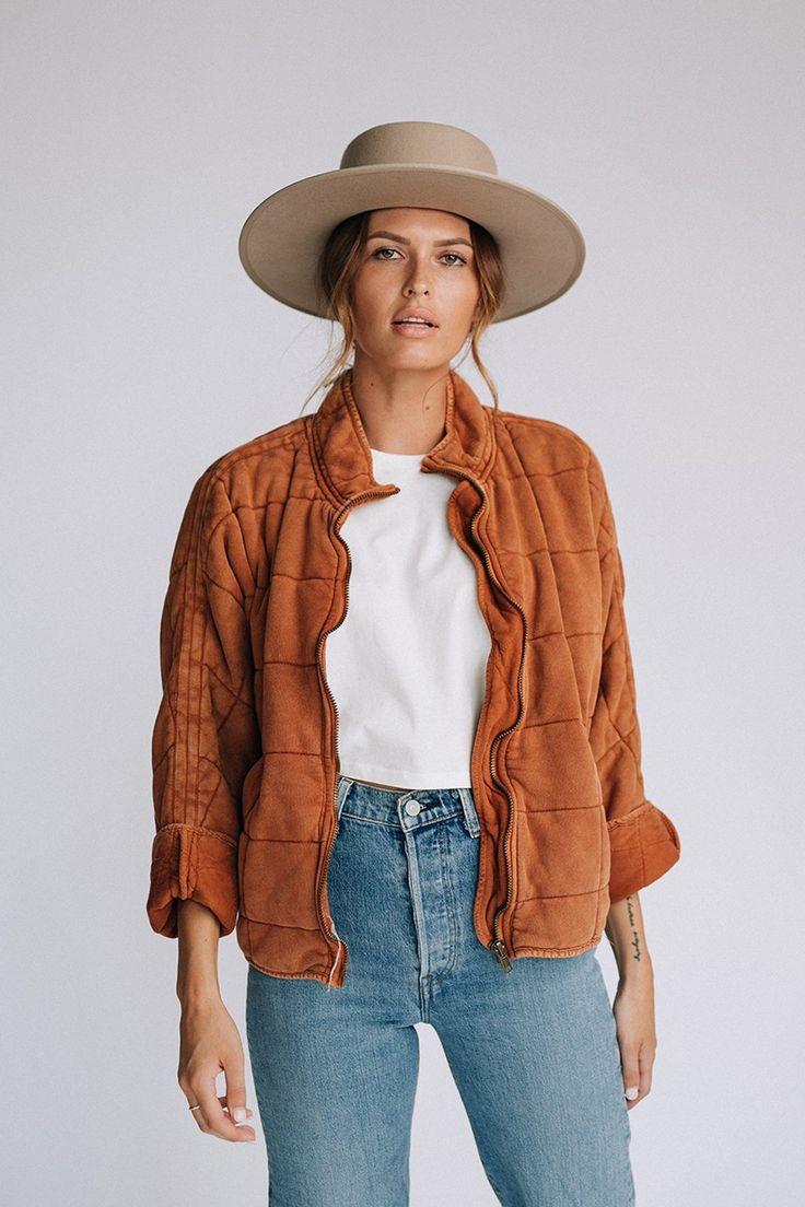 Detailsfree people dolman quilted denim jacket zip up