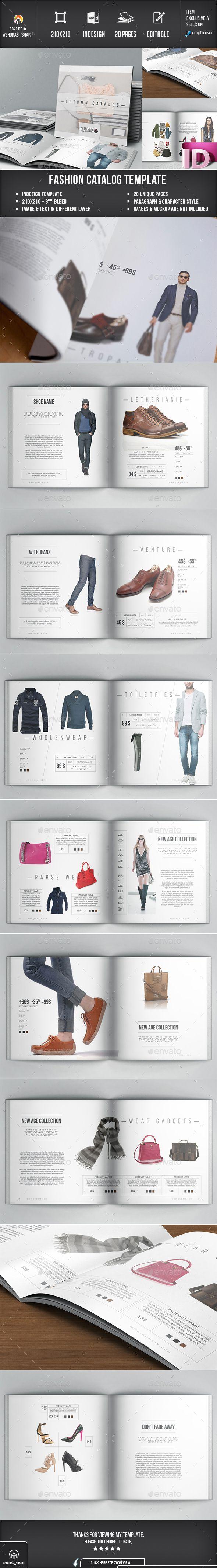Awesome InDesign Fashion Product Catalog  Template • Only available here ➝ http://graphicriver.net/item/product-catalog/14908575?ref=pxcr