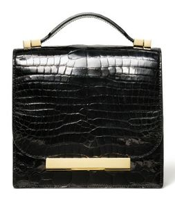 The Row: Row Fall, Black Clutches Pur, Bags Totes Clutches, Black Leather, The Row, Women Accessories, Fall 2012, 2012 Handbags, Crocodiles Clutches