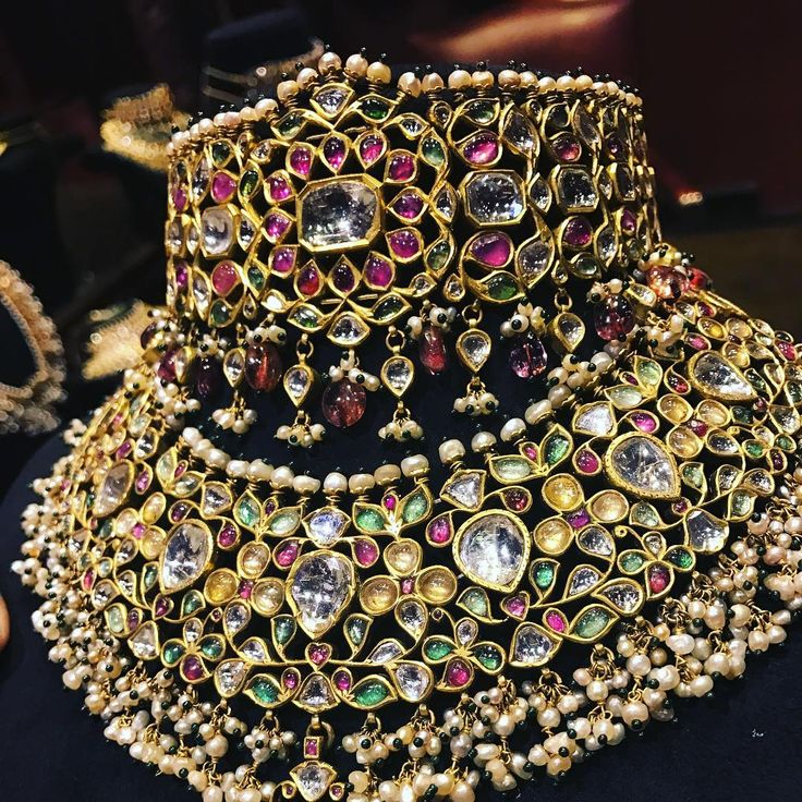 Ancient Indian jewellery re-born in the fecund imagination of @sabyasachiofficial #sabyasachi @vogueindia