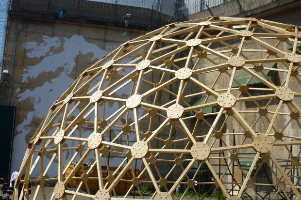 Wooden Dome Wood Structure Pinterest Sweet And Projects