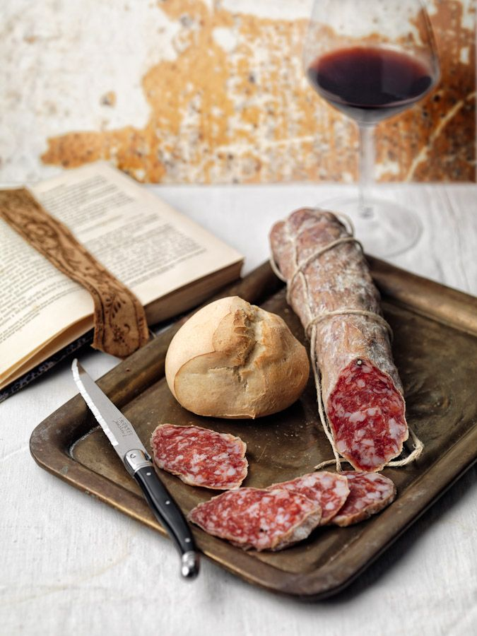 Salame Felino | Fresh #Salami, Emilia Romagna | More foodie lusciousness here: http://mylusciouslife.com/photo-galleries/wining-dining-entertaining-and-celebrating/
