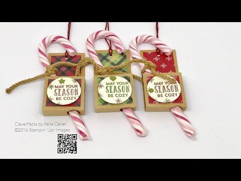 """""""26"""" Sleeps Till Christmas- Candy Cane Holder with Stampin' Up! – CLEVERPACKS by Keila Calver"""
