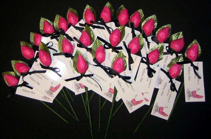 Hershey Kisses Roses Baby Shower Favors