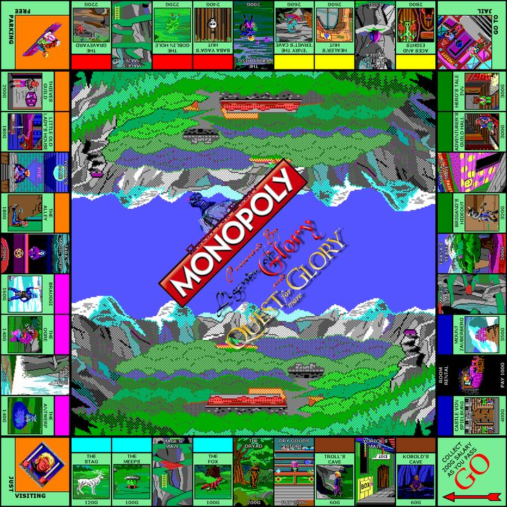 Quest for Glory Monopoly Board Game Games images, Board