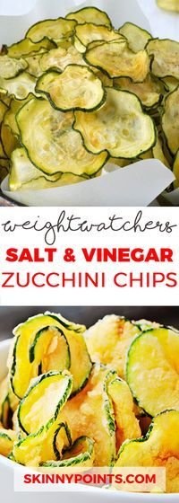 Salt and Vinegar Zucchini Chips - Only 2 Weight Watchers SmartPoints