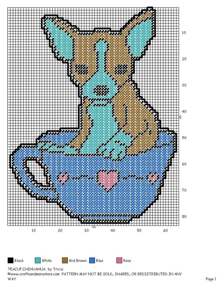 TEACUP CHIHUAHUA by TRICIA -- WALL HANGING                                                                                                                                                     More