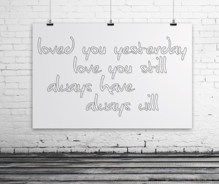 String-art pattern text LOVED YOU YESTERDAY, LOVE YOU STILL... SCRIPT (170 x 91cm) available at spijkerpatroon.nl
