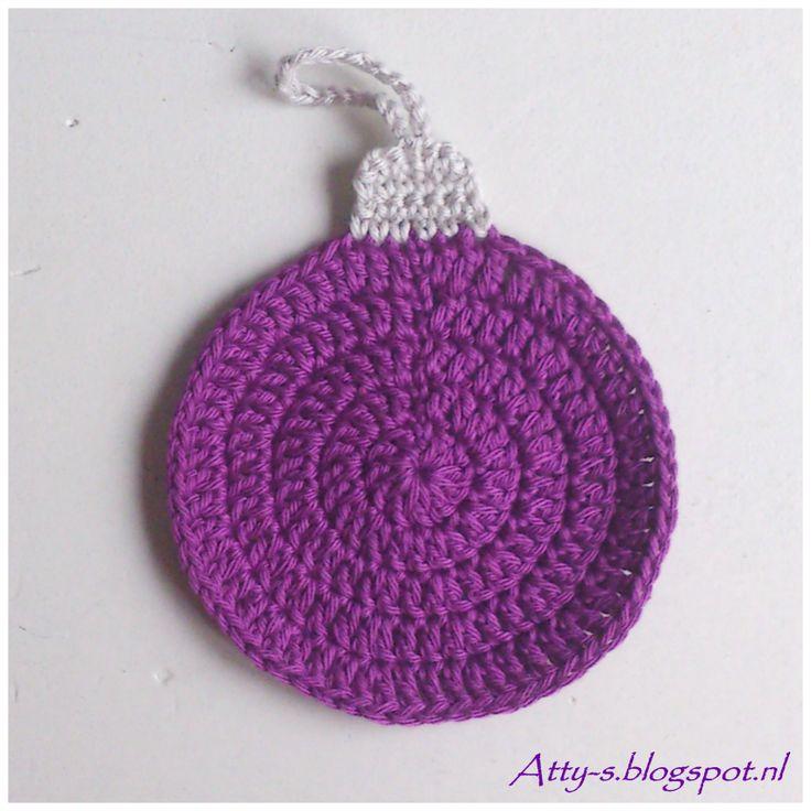 Ornament coaster. Free crochet pattern ~k8~