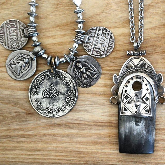 Old silver from Northern Africa, India and Turkey - just love the patina on these.