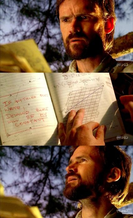 "Daniel Faraday. ""If anything goes wrong, Desmond Hume will be MY constant"""