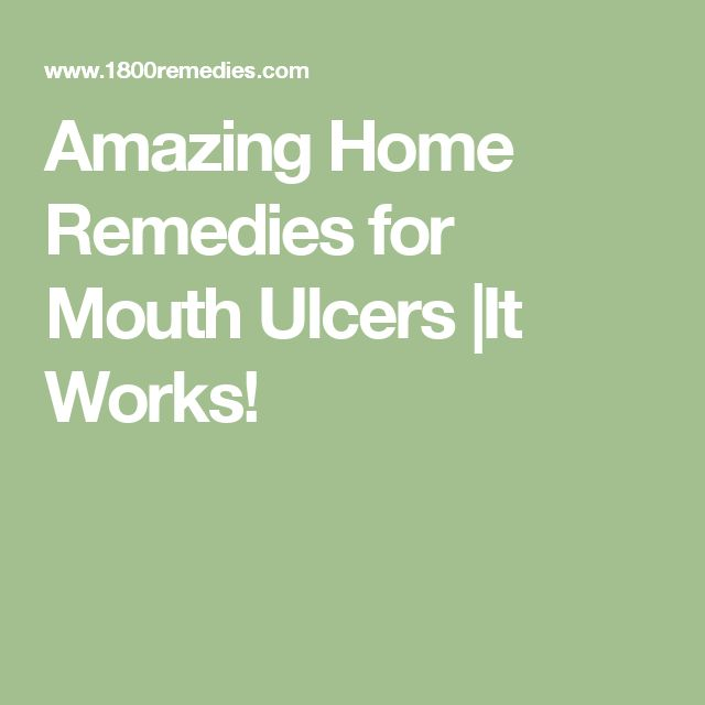 Amazing Home Remedies for Mouth Ulcers |It Works!