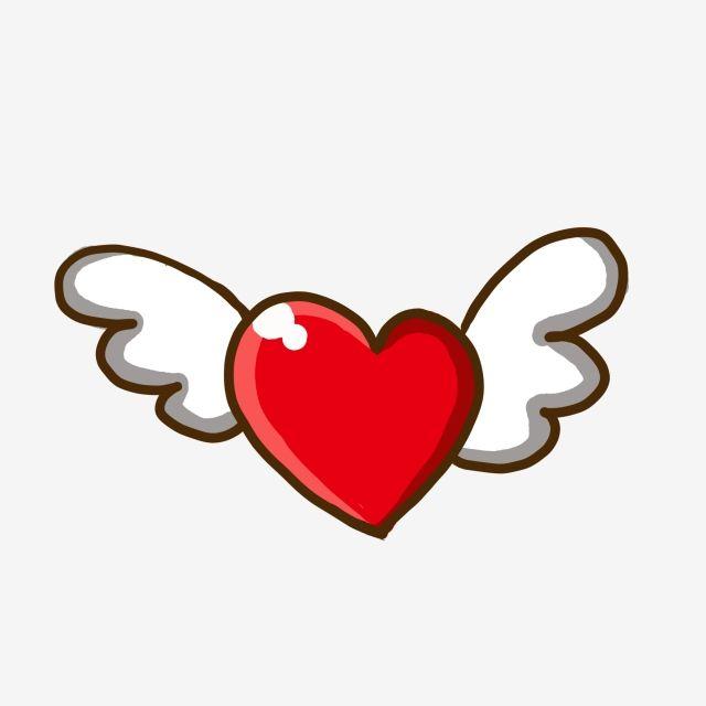 قلب أحمر مرسومة باليد قلب أحمر مع أجنحة اللوحة الكتابة على الجدران زخرفة كرتون Png وملف Psd للتحميل مجانا Heart With Wings Heart Hands Drawing Glass Painting Designs
