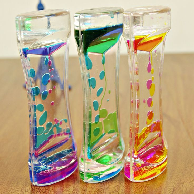 1 Piece Floating Color Mix Illusion Timer Liquid Motion Visual Slim liquid Oil Glass Acrylic Hourglass Timer Clock Ornament Desk(China (Mainland))