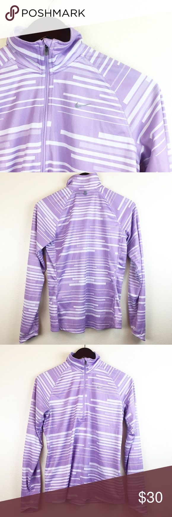 "Nike Women's 1/4 Zip Pullover Purple White Size M Nike Women's 1/4 Zip Pull Over Size: Medium Color: Purple/White  Measurements:  Bust - armpit to armpit laying flat: 18"" Sleeve Length - 21"" Length - taken from back of garment, top to bottom: 25"" Great Pre Loved Condition! HAPPY POSHING! Nike Tops Sweatshirts & Hoodies"