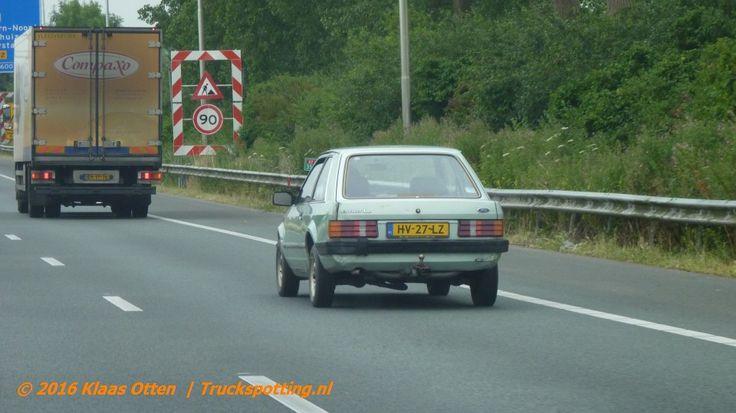 Leuk om te zien : een wat oudere Ford Escort...