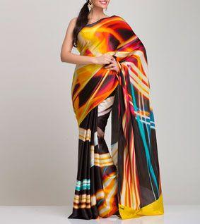 Multicoloured Georgette Saree