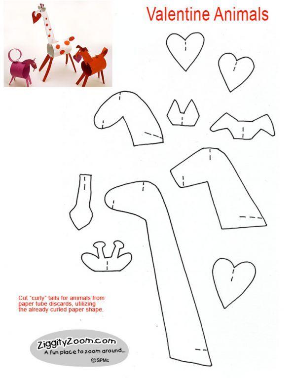 Cute Valentine Animals from Paper Tubes | Ziggity Zoom
