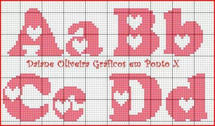 Bordado Alfabeto Ponto Cruz Monogramas Em Ponto Cruz Familia