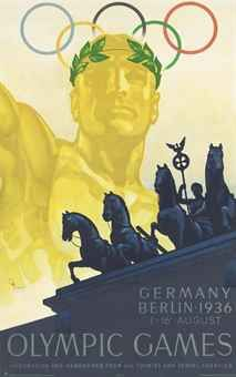 Germany Berlin 1936 Olympic Games lithograph by Franz Wurbel sold for £3,750 in April 2012 #olympics