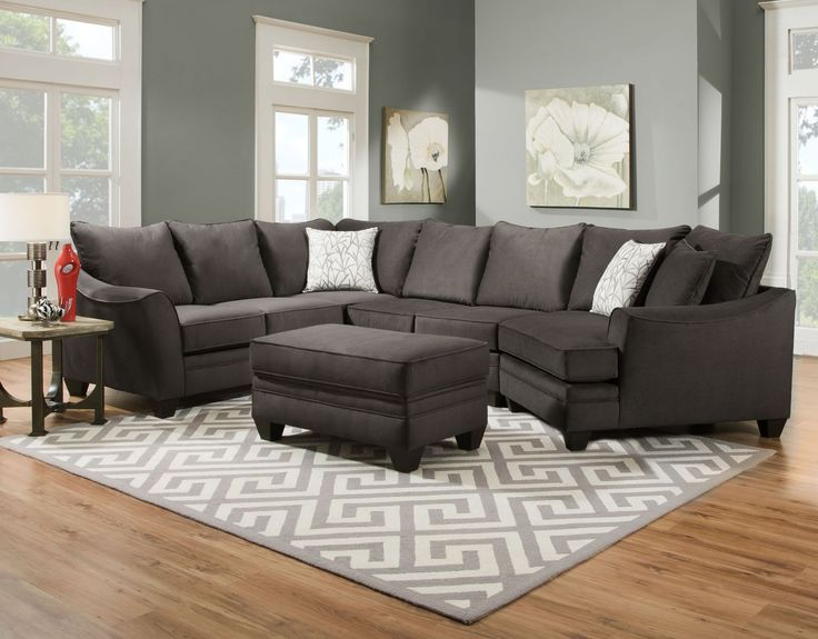 New arrival alert! Our Family Sectional with Cuddler in Grey Flannel has room for the whole gang this holiday season and is comfy cozy, too.