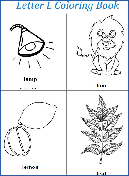 Letter L Coloring Pages Coloringpages Worksheets Alphabet Preschool Freeprintables