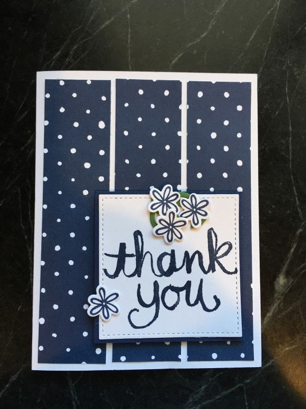 bac804947 Sketch inspired thank you | Stampin' Up! Creative Crew Design Team Projects  | Handmade thank you cards, Cards, Quick cards